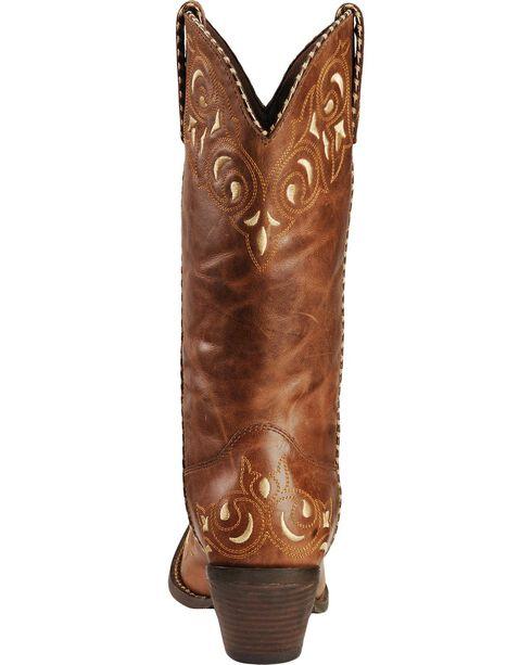 Durango Women's Sew Sassy Western Boots, Brown, hi-res