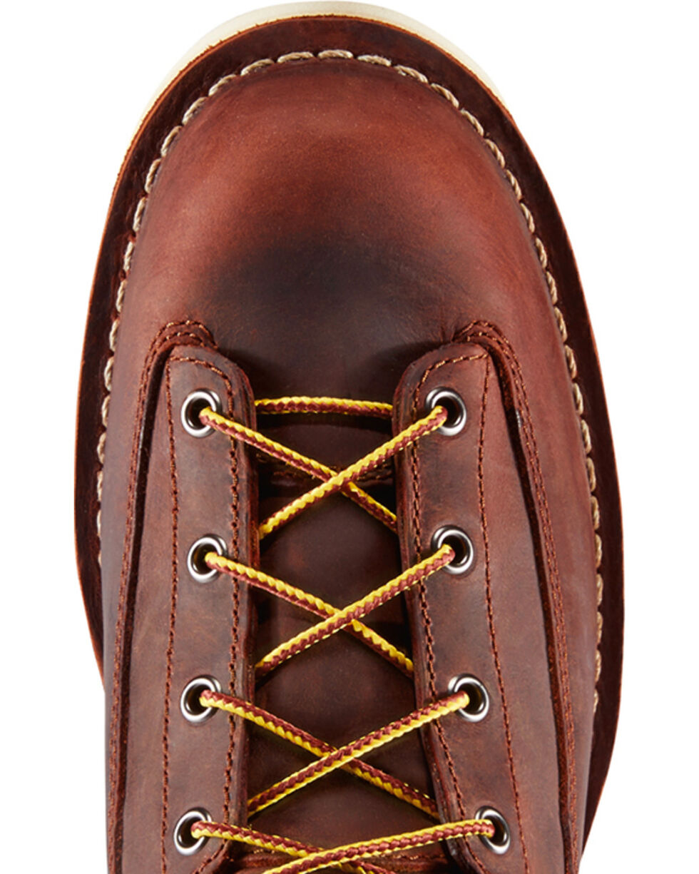 "Danner Men's Brown Bull Run 8"" Work Boots - Plain Toe, Brown, hi-res"