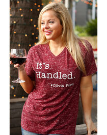 ATX Mafia Women's Red Olivia Pope Scandal V-Neck Top , Red, hi-res