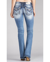 Miss Me Women's Star Embroidery Slim Jeans - Boot Cut , , hi-res