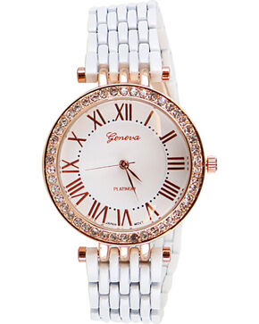 Shyanne® Women's Rhinestone Watch, White, hi-res