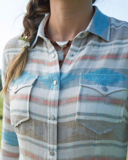 Ryan Michael Women's Glacier Heather Blanket Shirt , Multi, hi-res