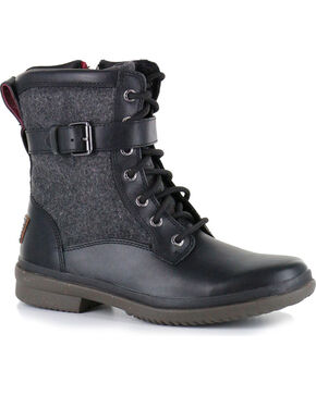 UGG Women's Black Kesey Fashion Boots - Round Toe , Black, hi-res
