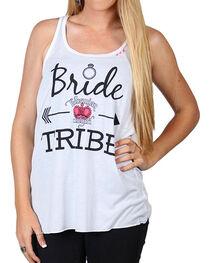 Bohemian Cowgirl Women's Bride Tribe Tank, , hi-res