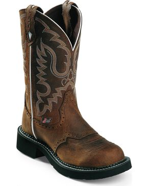 Justin Gypsy Leather Cowgirl Boots, Aged Bark, hi-res
