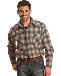 Pendleton Men's Grey/Tan Canyon Ombre Long Sleeve Shirt, , hi-res