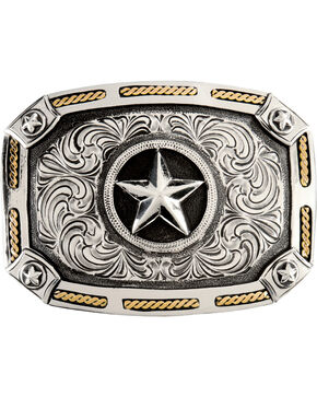 Stetson Star Buckle, Silver, hi-res