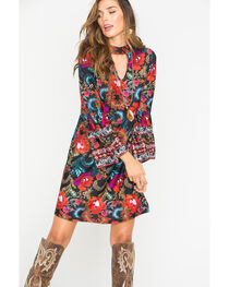 Wrangler Women's Floral Pattern Fashion Dress , , hi-res