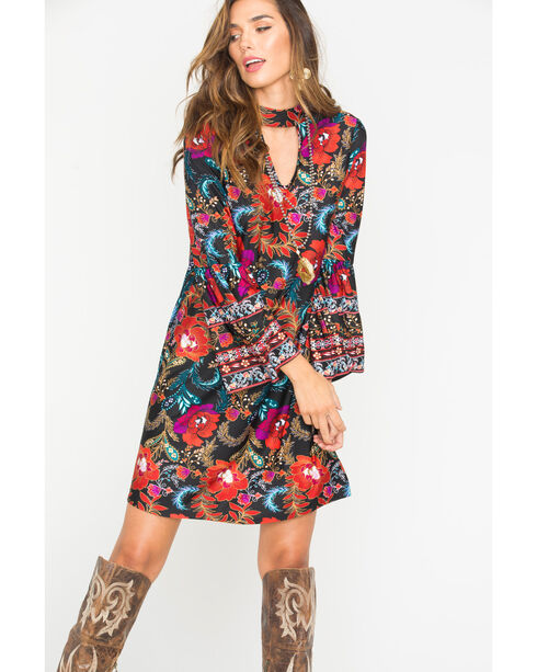 Wrangler Women's Floral Pattern Fashion Dress , Multi, hi-res