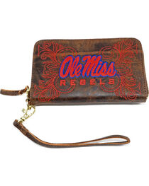 Gameday Boots University of Mississippi Leather Wristlet, , hi-res