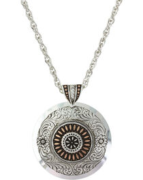 Montana Silversmiths Women's Prairie Fire Concho Necklace , , hi-res