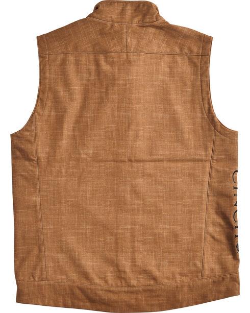 Cinch Men's Embroidered Logo Bonded Vest, Brown, hi-res