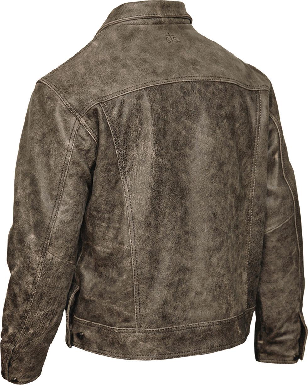 STS Ranchwear Men's Maverick Rustic Leather Jacket, Black, hi-res