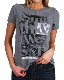 Smith & Wesson Women's Distressed Graphic Tee, , hi-res