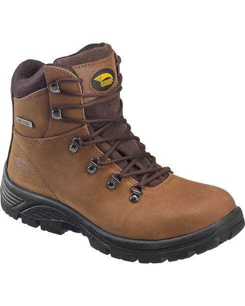 Avenger Men's Steel Toe Lace Up Hiking Boots, Brown, hi-res