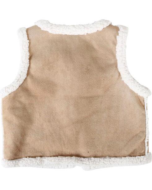 Shyanne® Girls' Sherpa Vest, Brown, hi-res
