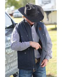 Cinch Men's Black Canvas Concealed Carry Vest , , hi-res