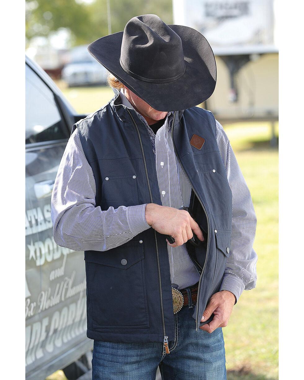 Cinch Men's Black Canvas Concealed Carry Vest , Black, hi-res