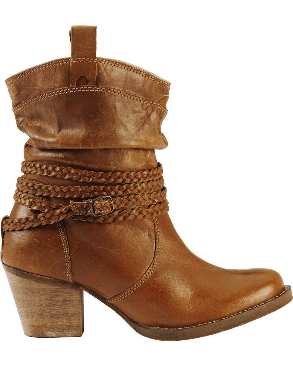 Dingo Women's Twisted Sister Fashion Boots, Tan, hi-res