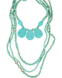 Shyanne® Women's Large Turquoise Beaded Necklace, , hi-res