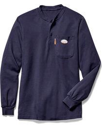 Rasco Men's Navy FR Henley T-Shirt - Big, , hi-res