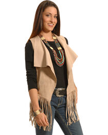 White Crow Women's Moccasin Crying Wolf Fringe Vest, , hi-res