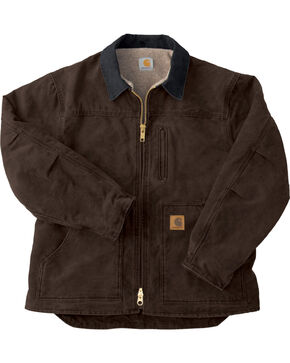 Carhartt Men's Sandstone Ridge Sherpa Lined Jacket, Dark Brown, hi-res