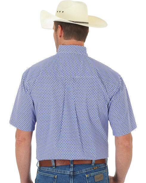 Wrangler Men's George Strait Plaid Short Sleeve Shirt, Multi, hi-res