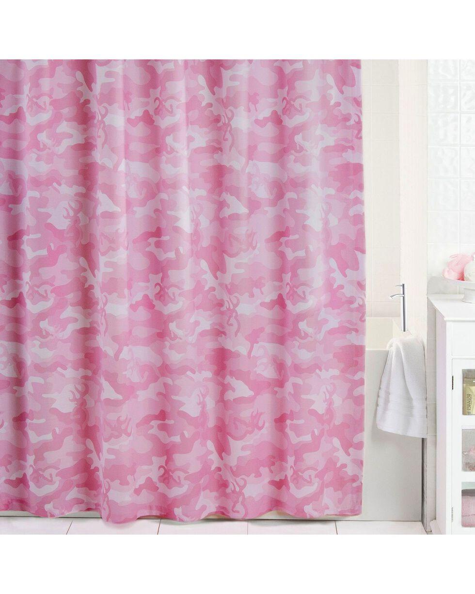 Browning Buckcamo Pink Shower Curtain, Pink, hi-res