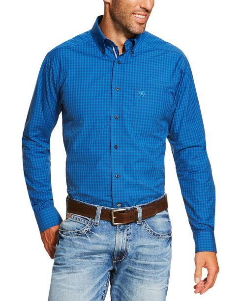 Ariat Men's Printed Long Sleeve Shirt, Indigo, hi-res