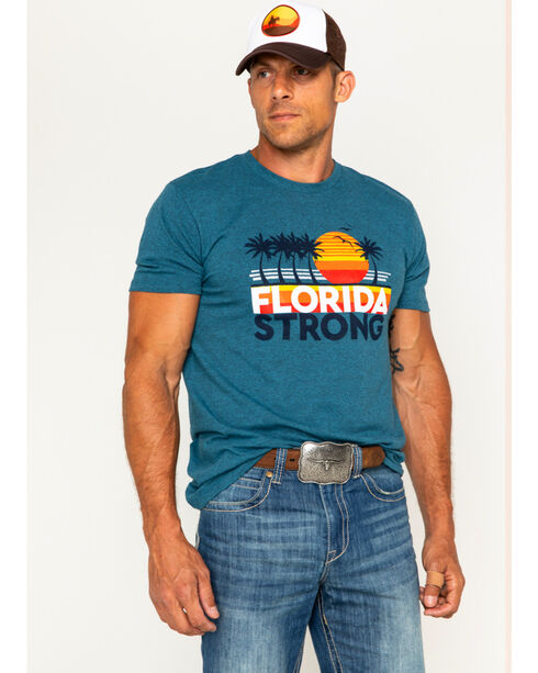 Cody James Men's Florida Strong Short Sleeve T-Shirt, Heather Blue, hi-res