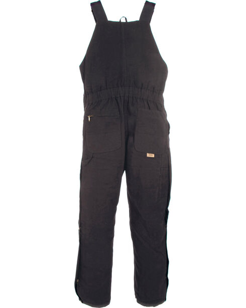 Berne Women's Washed Insulated Bib Overalls - 3X & 4X Reg., Black, hi-res