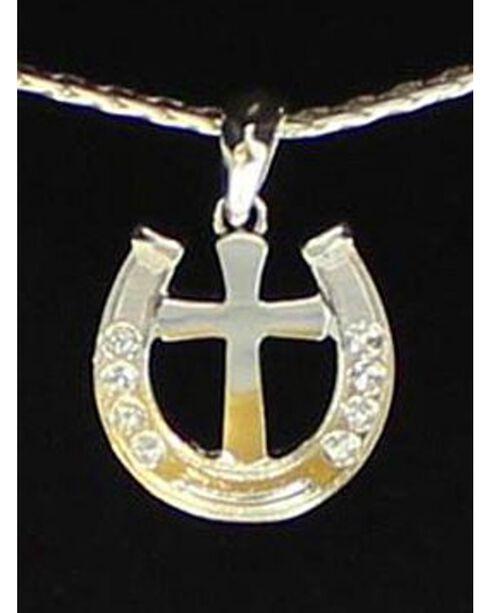 Lightning Ridge Horseshoe & Cross Charm Necklace Set, Multi, hi-res