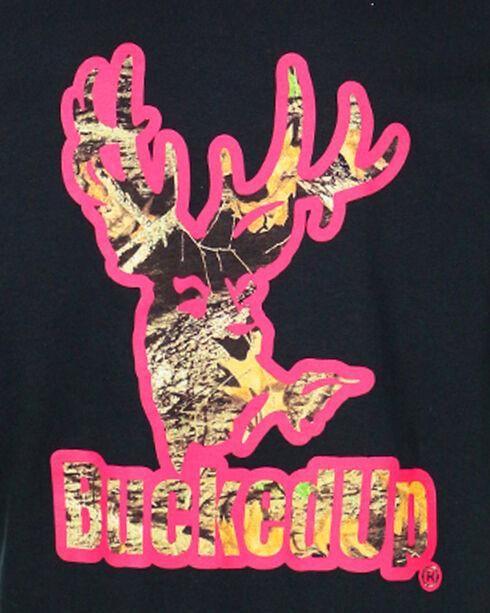 BuckedUp Men's Black Camo with Pink Outline Tee - Big, Black, hi-res
