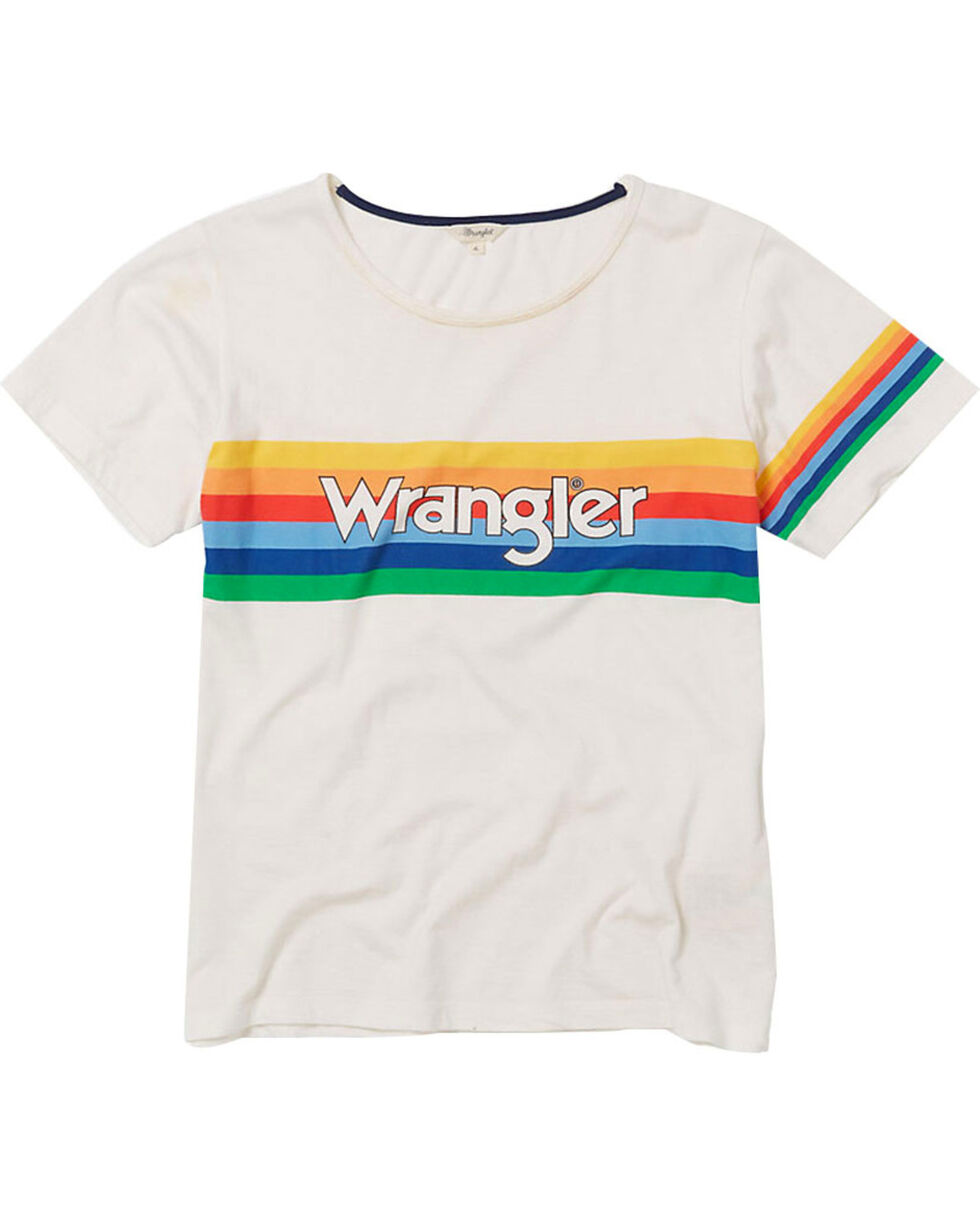 Wrangler Women's 70th Anniversary Retro Screen Print Tee, White, hi-res