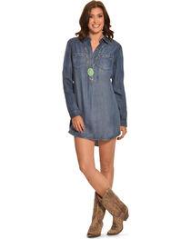 Cowgirl Justice Women's Durango Tencel Denim Tunic Dress, , hi-res