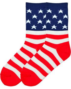 K-Bell Women's Americana Socks, Multi, hi-res