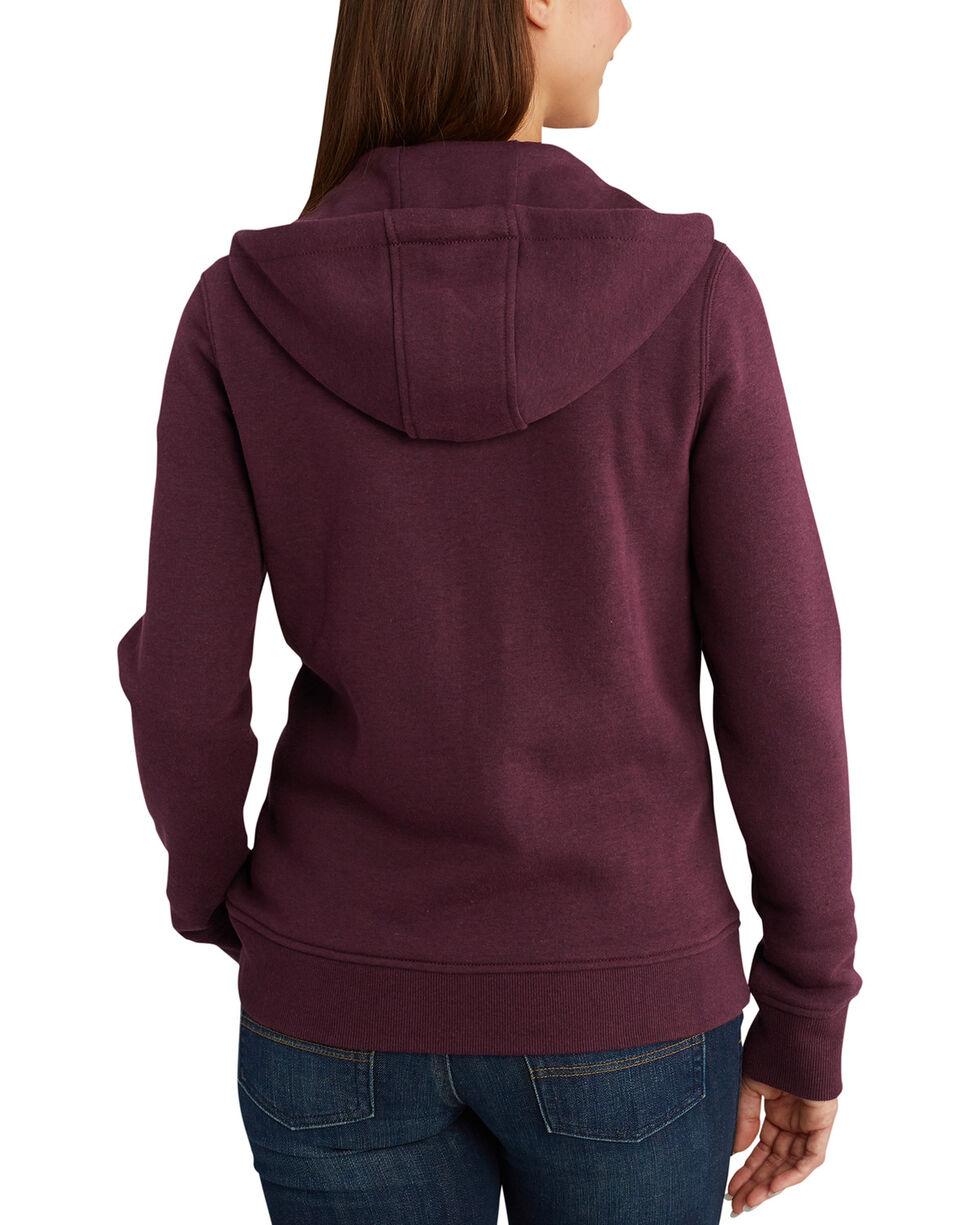 Carhartt Women's Clarksburg Full-Zip Hoodie , Medium Brown, hi-res