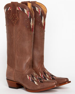 Shyanne® Women's Fresno Embroidered Western Boots, Brown, hi-res