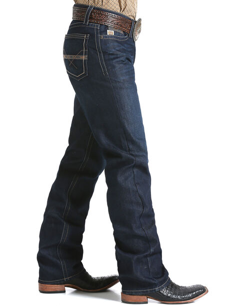 Cinch Men's Grant Mid Rise Relaxed Boot Cut Jeans, Indigo, hi-res