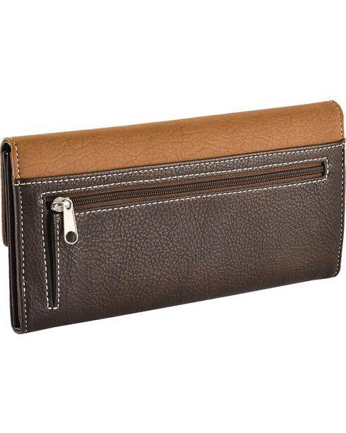 Blazin' Roxx Women's Tri-Fold Starburst Wallet, Distressed, hi-res