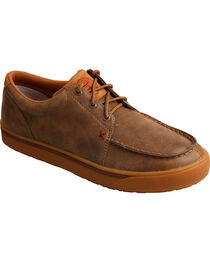 Twisted X Men's Hooey Smooth Leather Casual Shoes - Moc Toe, , hi-res