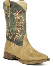 Roper Boys' Arrowheads Cowboy Boots - Square Toe, , hi-res