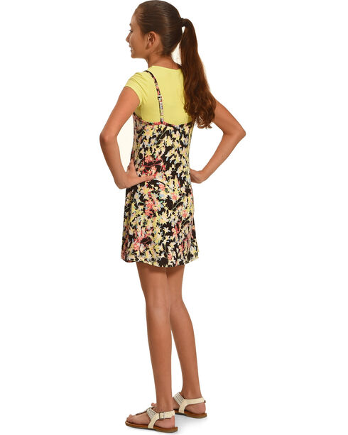 Derek Heart Girls' Yellow Tank Swing Dress , Yellow, hi-res