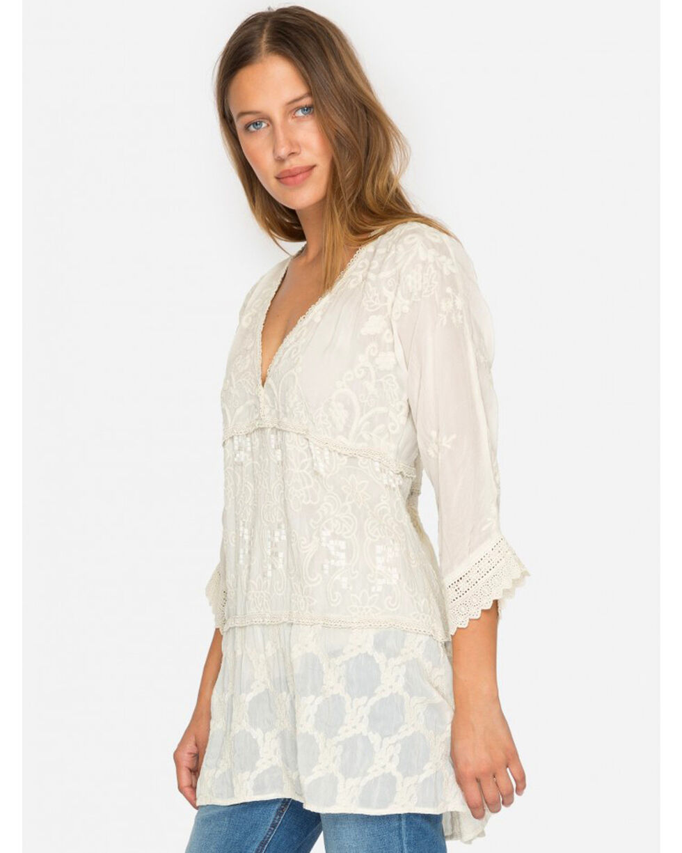Johnny Was Women's Cream Monrow Tunic , Cream, hi-res