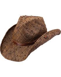 Peter Grimm Jareth Raffia Straw Cowboy Hat, , hi-res