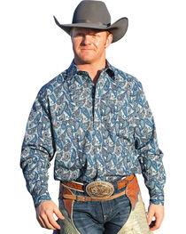 Cinch Men's Paisley Snap Modern Fit Western Shirt, , hi-res