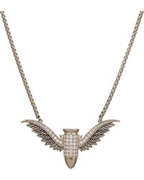 Girls with Guns Winged Bullet CZ Necklace , , hi-res