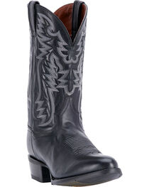 Dan Post Men's Centennial Black Western Boots - Round Toe, , hi-res