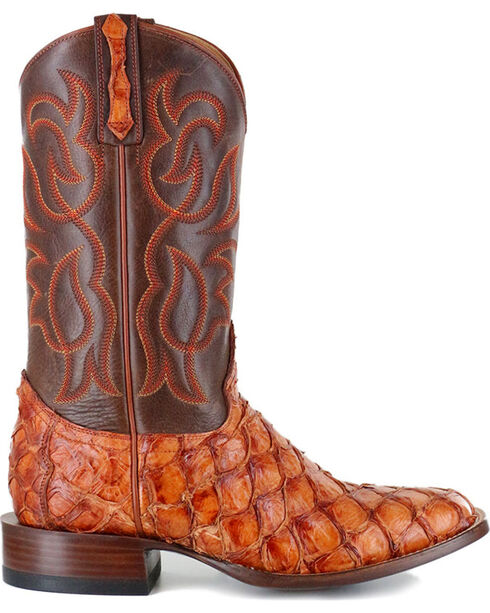 Cody James® Men's Cognac Pirarucu Exotic Boots , Brown, hi-res